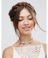 ASOS Wedding - Kristall-Halskette - Transparent