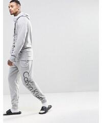 Calvin Klein - Pantalon de jogging coupe classique, resserré aux chevilles - Gris