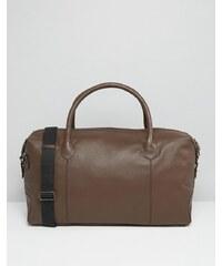ASOS - Braune Reisetasche aus Leder - Braun