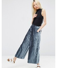 ASOS - Pantalon large plissé en velours - Vert