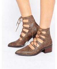 Eeight E8 by MIISTA - Winter - Geschnürte Ankle Boots mit Absatz - Bronze