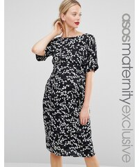ASOS Maternity - Robe fourreau à imprimé fleurs - Multi