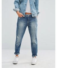 Ditto's - Alec - Enge Boyfriend-Jeans - Blau