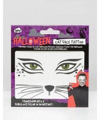 NPW - Halloween - Tatouage pour le visage motif chat - Multi