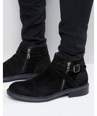 Rule London - Stiefel mit Schnallen - Schwarz