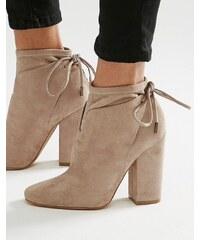 Kendall + Kylie - Ankle-Boots mit Schnürung hinten - Beige