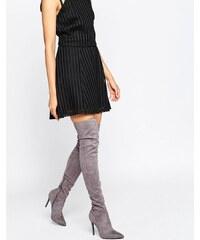 Kendall + Kylie - Graue Overknee-Stiefel mit Stiletto-Absatz - Grau