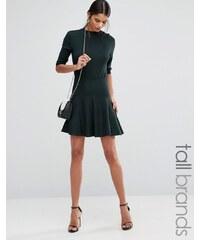 Y.A.S Tall - Romain - Mini-jupe plissée - Vert