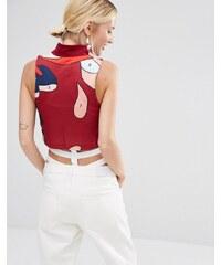 Adidas Originals X Rita Ora - Top court à col montant - Rouge