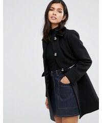 ASOS - Manteau coupe patineuse à bordures contrastantes - Noir