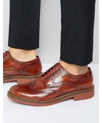 Base London Woburn Hi Shine Brogues - Marron