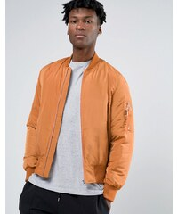 ASOS - Bomber avec poche style MA1 et doublure contrastante - Orange - Orange