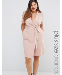 Koko - Wickelkleid in Plusgrösse - Rosa