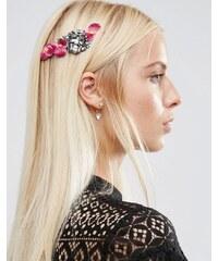 ASOS - Haarschmuck mit hübschem Blumendesign aus Metall - Violett