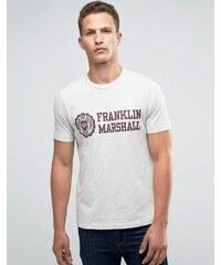 Franklin & Marshall Franklin and Marshall - T-shirt avec grand logo armoiries - Gris