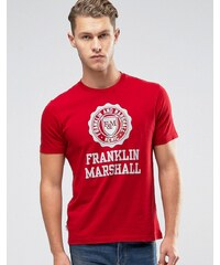 Franklin & Marshall Franklin and Marshall - T-shirt avec grand logo - Rouge