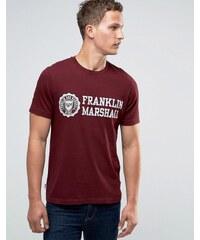 Franklin & Marshall Franklin and Marshall - T-shirt avec grand logo armoiries - Rouge