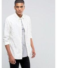 Selected Homme - Chemise à imprimé flèche - Blanc
