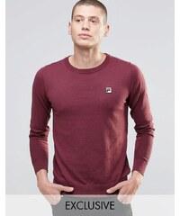 Fila - Vintage-Pullover mit Rundhalsausschnitt - Rot