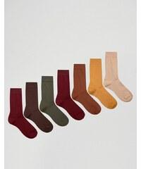 ASOS - Lot de 7 paires de chaussettes - Multi