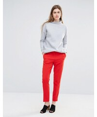 Vanessa Bruno Athe - Pantalon skinny avec pli sur le devant - Rouge