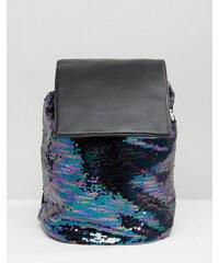 ASOS - Paillettenrucksack mit Kordelzug - Mehrfarbig