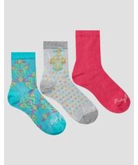 Ruby Rocks - Socken mit Paisleymuster im 3er-Set - Mehrfarbig