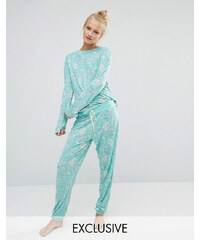 Chelsea Peers - Garden Flora - Langer Schlafanzug - Grün