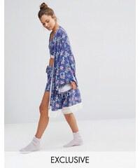 Chelsea Peers - Robe de chambre à fleurs style kimono - Multi