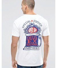 Deus Ex Machina - T-shirt avec motif rose édition spéciale au dos - Blanc