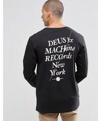 Deus Ex Machina - T-shirt à manches longues avec imprimé disque au dos - Noir
