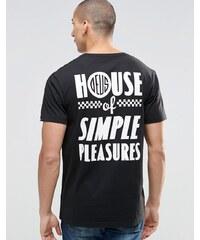Deus Ex Machina - T-shirt avec imprimé Simple Pleasure au dos - Noir