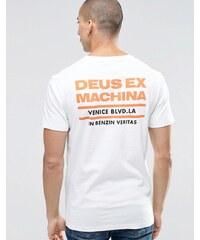 Deus Ex Machina - T-Shirt avec logo No.1 et imprimé dans le dos - Blanc