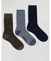 Selected Homme - Lot de 3 paires de chaussettes - Multi