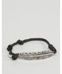 Icon Brand - Bracelet plume et daim - Noir