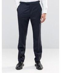 Reiss - Pantalon slim à fines rayures - Gris
