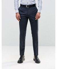 Reiss - Pantalon slim moderne moucheté - Bleu marine