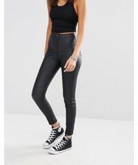 Missguided - Vice - Jean skinny enduit taille haute super stretch - Noir