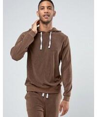 ASOS Loungewear - Sweat à capuche en tissu éponge - Marron