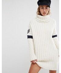 Tommy Hilfiger - TommyxGigi - Robe à col roulé en tricot - Blanc