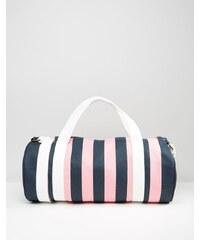 Jack Wills - Ledbrook - Reisetasche mit Streifen in Rosa & Marine - Mehrfarbig