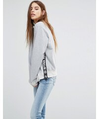G-Star - Hochgeschlossenes Sweatshirt mit Logodesign - Grau
