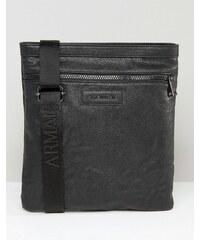 Armani Jeans - Pochette bandoulière en similicuir - Noir