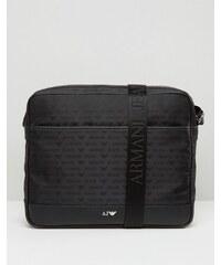 Armani Jeans - Besace avec logo sur l'ensemble - Noir