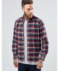 Penfield - Barrhead - Chemise boutonnée coupe classique en coton brossé à carreaux - Rouge