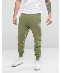 Converse - Pantalon de jogging à bords-côtes et écusson - Vert 10003292-A01 - Vert