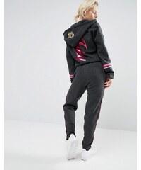 Juicy Couture - Fleece-Overall mit Kronenmotiv - Schwarz