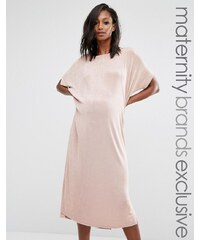 Missguided Maternity - Robe oversize près du corps - Beige