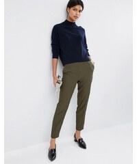 ASOS Premium - Pantalon slim texturé - Vert