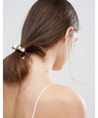 Johnny Loves Rosie - Élastique à cheveux avec nœud métallique - Doré